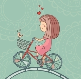 girl love - bike, bicycle, wheel - yuliia_bahniuk | ello