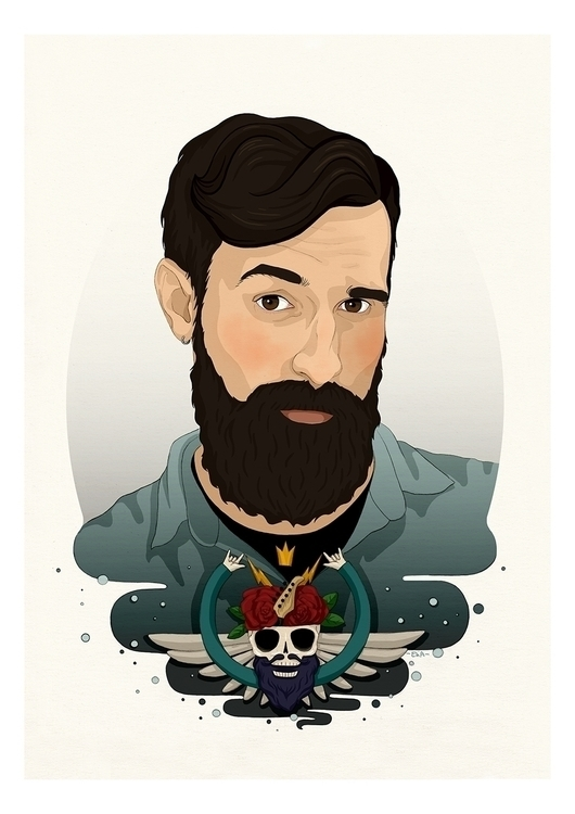 Miguel - illustration, portrait - elia | ello
