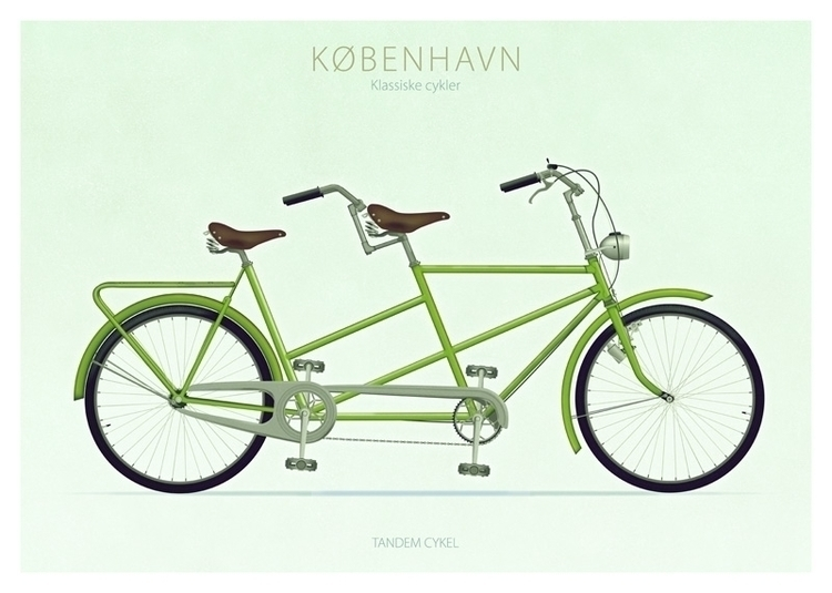 Tandem cykel - illustration - do-6747 | ello