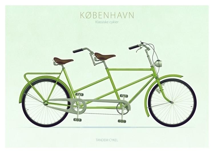 Tandem cykel - illustration - do-6747   ello
