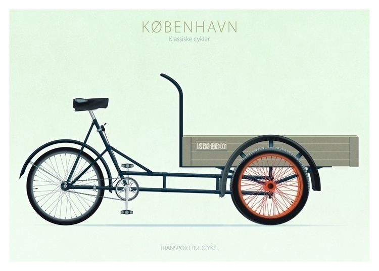 Transport budcykel - illustration - do-6747 | ello