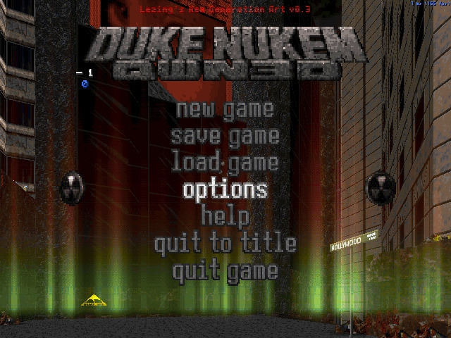 LNGA mod game menu - dukenukem, eduke32 - punpcklbw | ello
