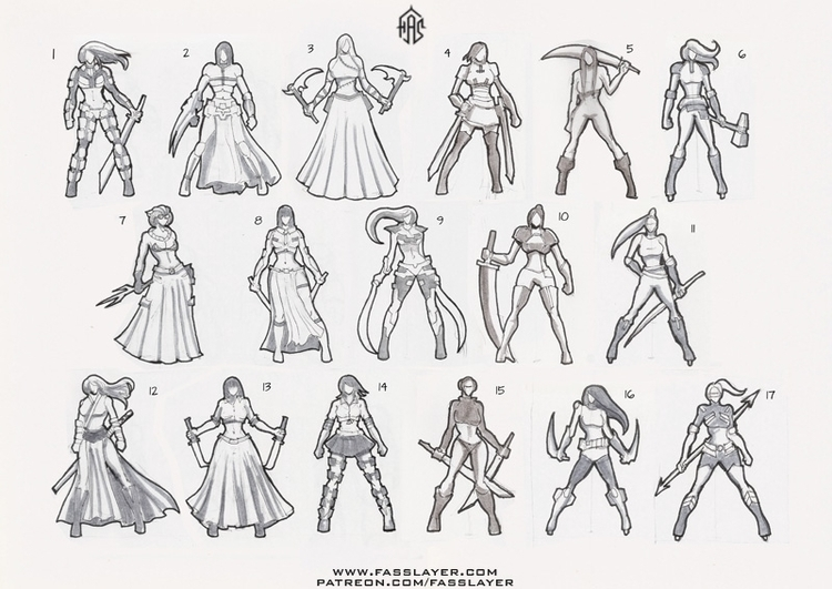Thumbnail concepts girls pointy - fasslayer | ello