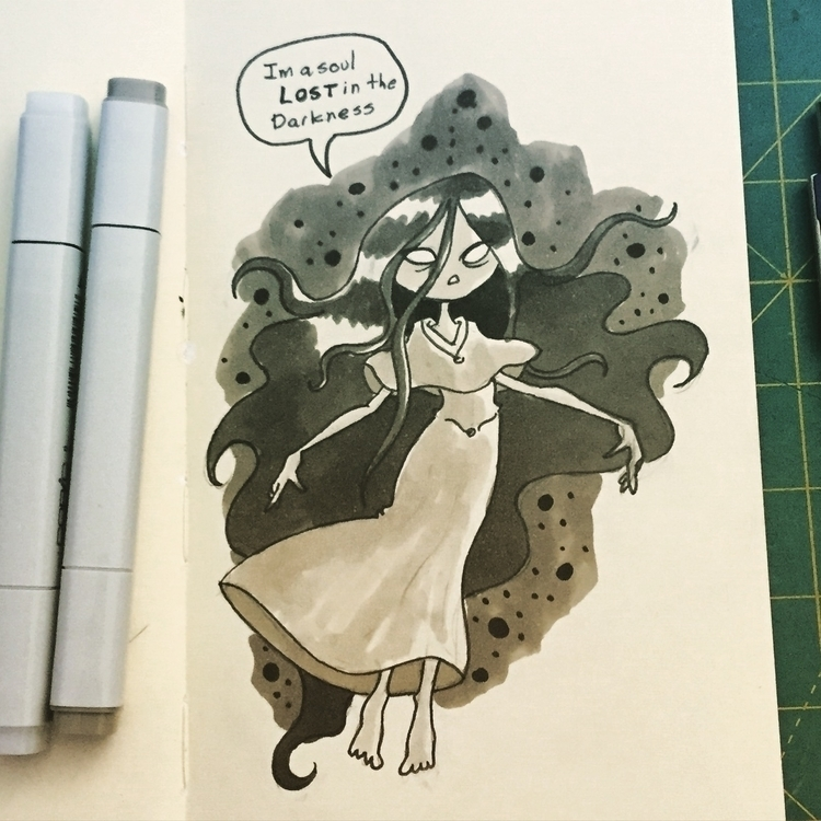 day 02 - inktober, monster, sketch - pingolito | ello