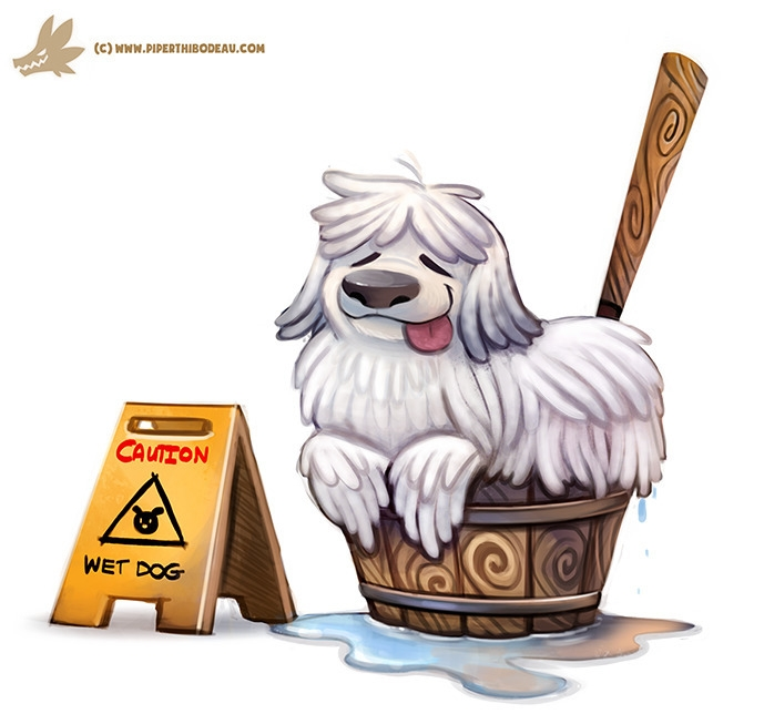 Daily Paint Mop Dog - 1122. - piperthibodeau | ello