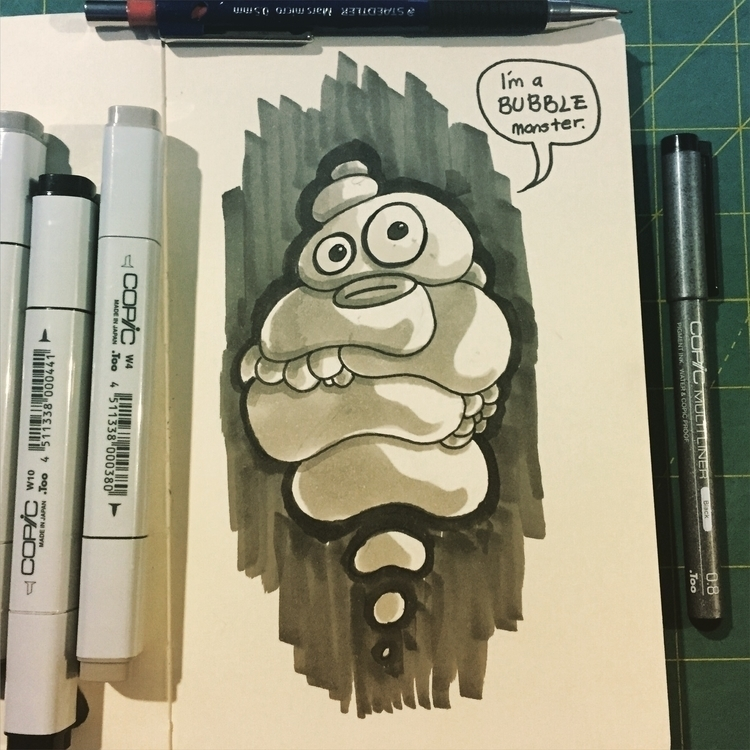 day 03 - inktober, monster, sketch - pingolito | ello