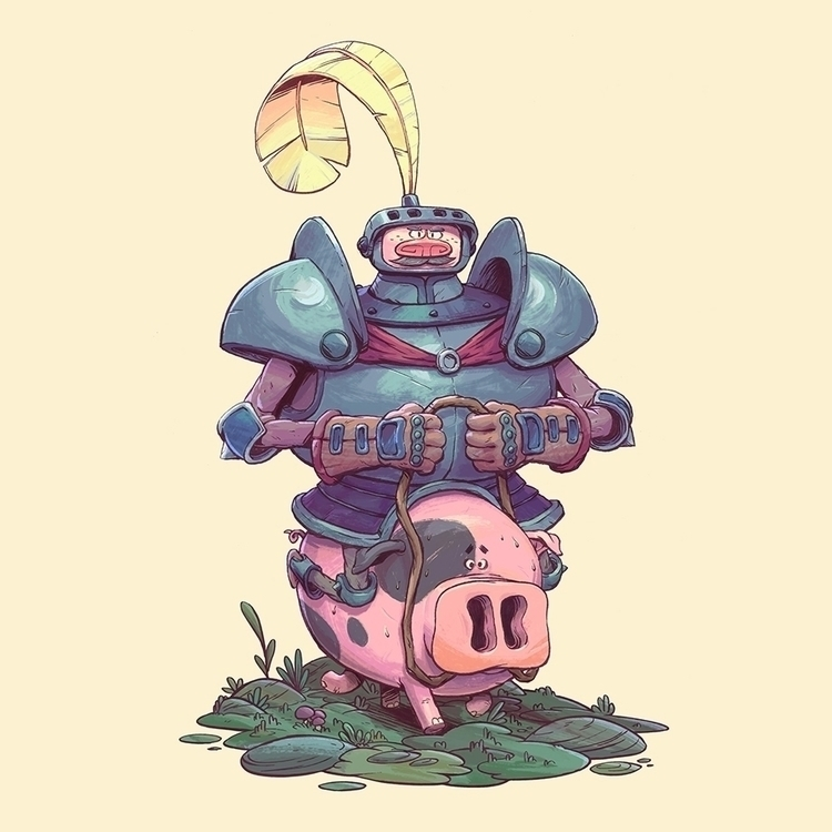 Pig Knight - characterdesign, pig - tommonster | ello