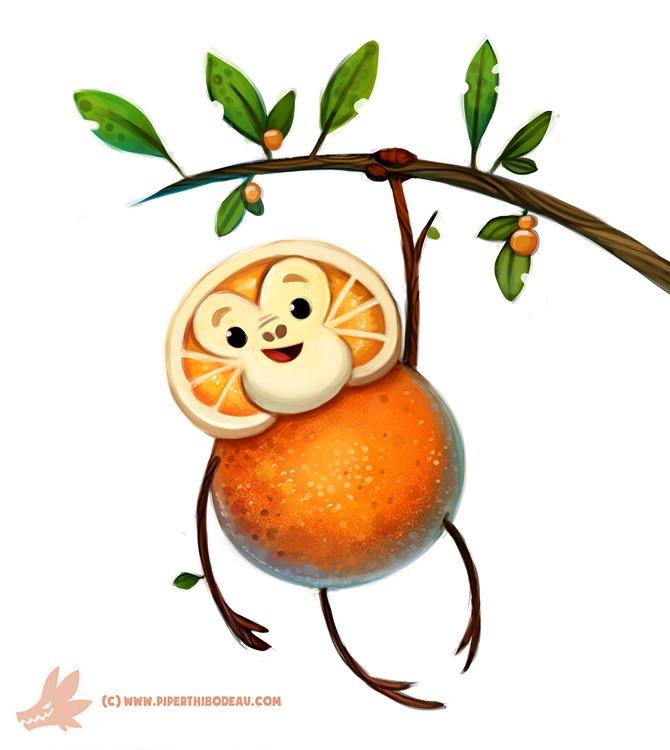 Daily Paint Orangeutan - 1146. - piperthibodeau   ello