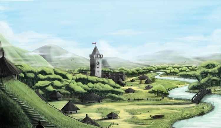 Village - illustration, animation - bryanmahy | ello