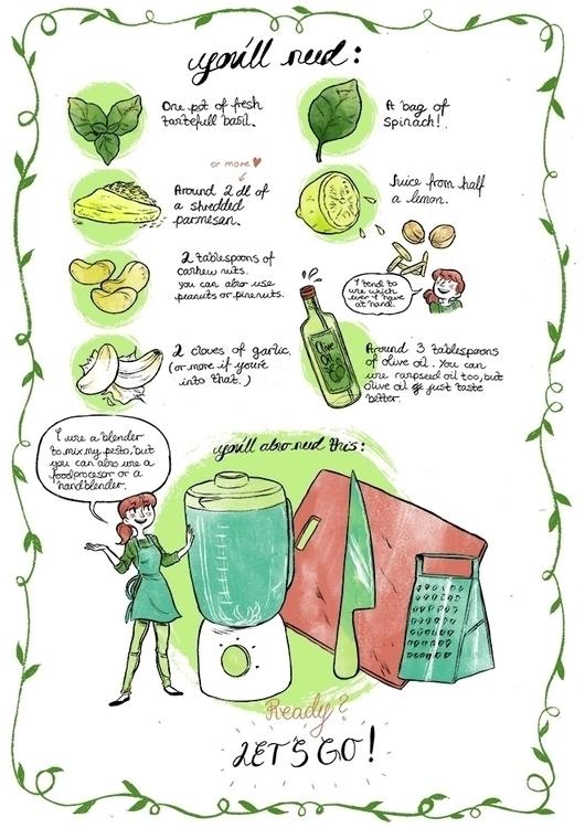 illustrated pesto recipe, pg 2 - cathrineillu | ello