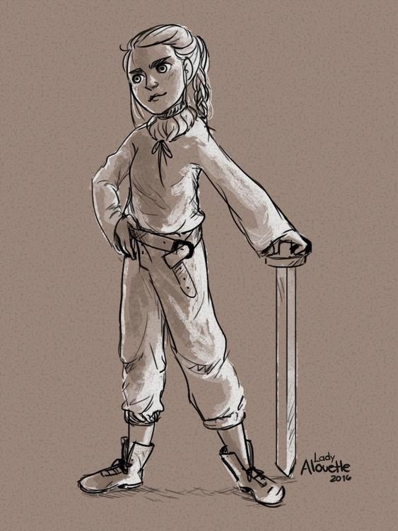 Arya Stark - aryastark, maisiewilliams - ladyalouette | ello
