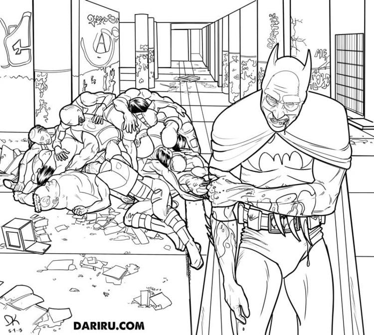 Batman kicks ass - illustration - dariru   ello