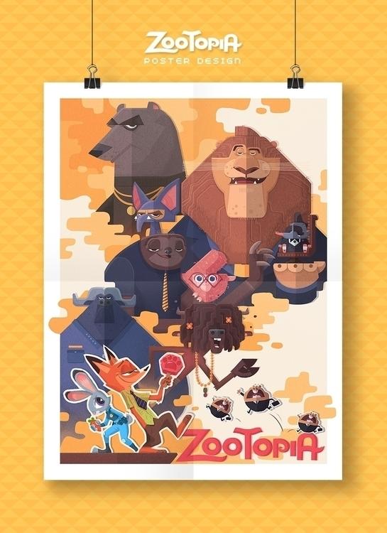 ZOOTOPIA - poster design - cynthiaxing | ello