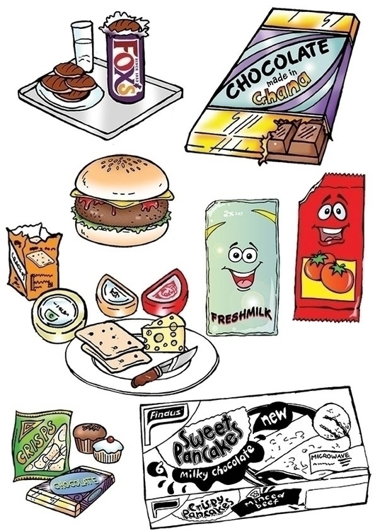 Cartoon illustrations food - illustration - cartoongenius | ello