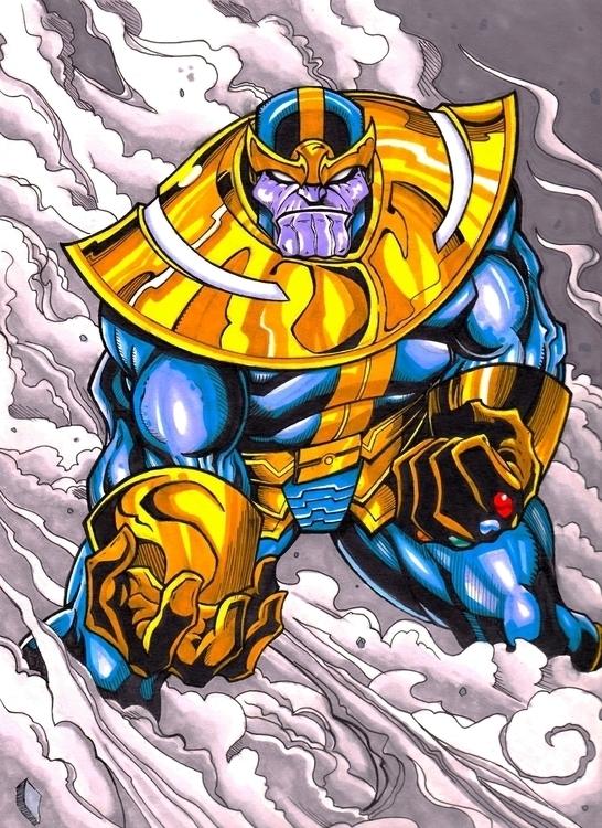 Mad Titan - thanos, marvel, comics - justinoden | ello