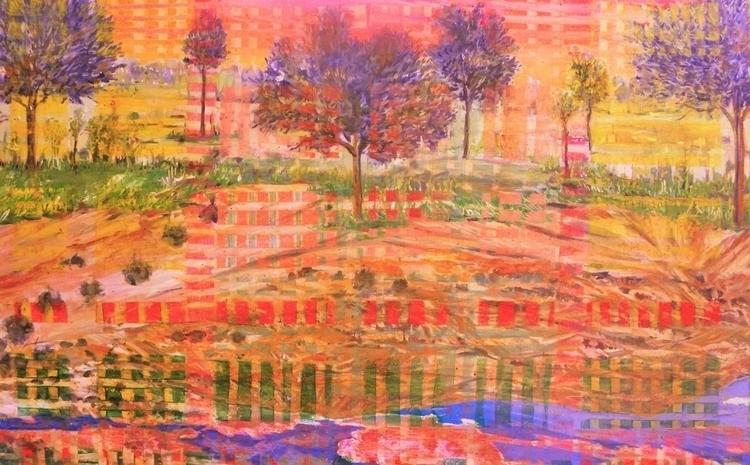 oil canvas - painting, conceptart - annakefaloyianni | ello