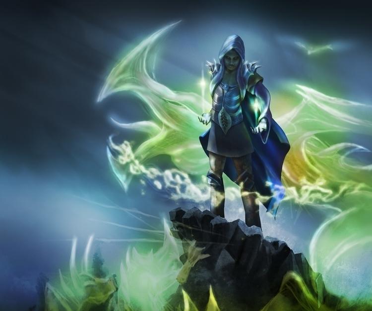 Wizard Army. magical scene dark - pablocazorla | ello