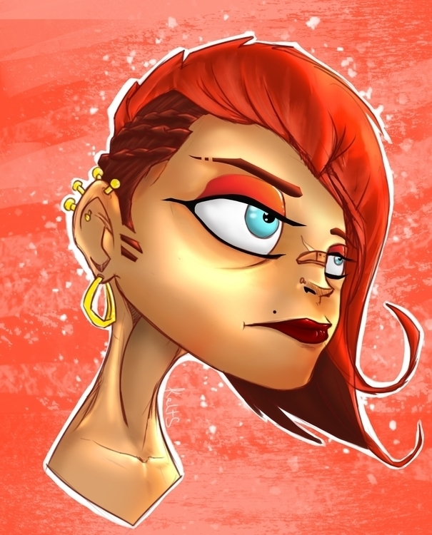 Redhead - illustration, Portrait - kelts-7159 | ello