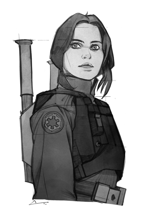 excited Rogue - jynerso, starwars - charlestan | ello