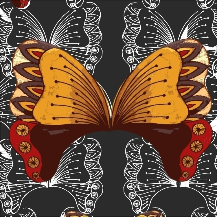 Butterfly - illustration, drawing - simonebonnett | ello