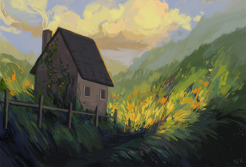 Summer House~ - house, summer, illustration - nicolexu-8498 | ello