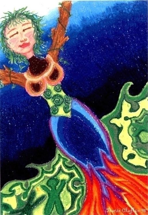 Mother earth - illustration - tracieclaflinbryant | ello
