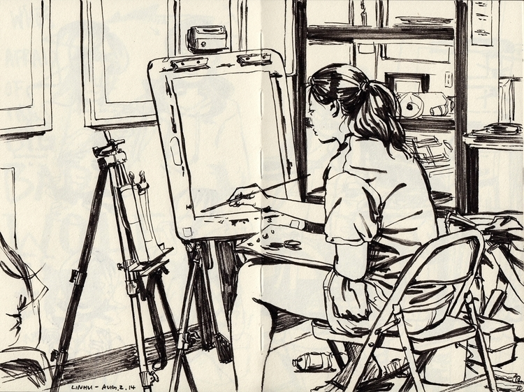 study - sketchbook - linbhu | ello