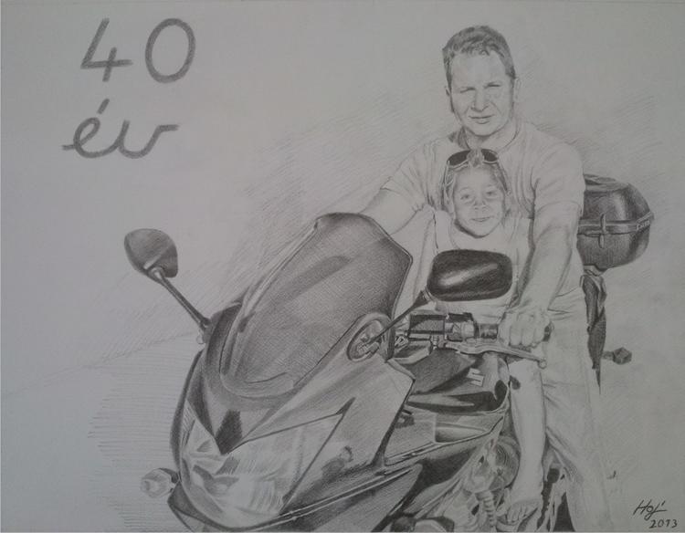 SUZUKI, pencil - drawing, motorcycle - spiritfc | ello