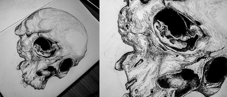 illustration, drawing, #skull - karolina-4327 | ello