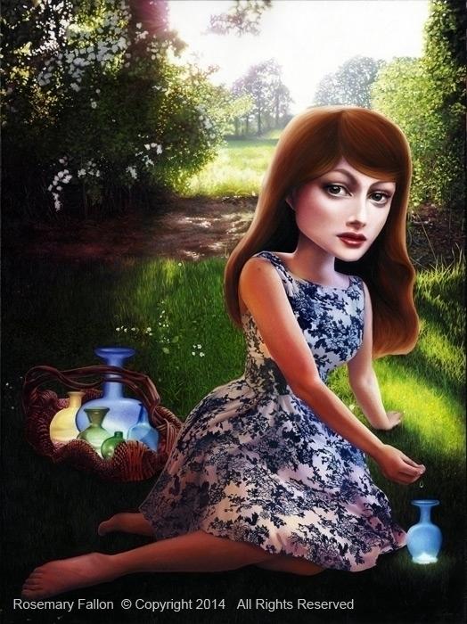 Tear Catcher oil canvas – 40?x3 - rosemaryfallon | ello