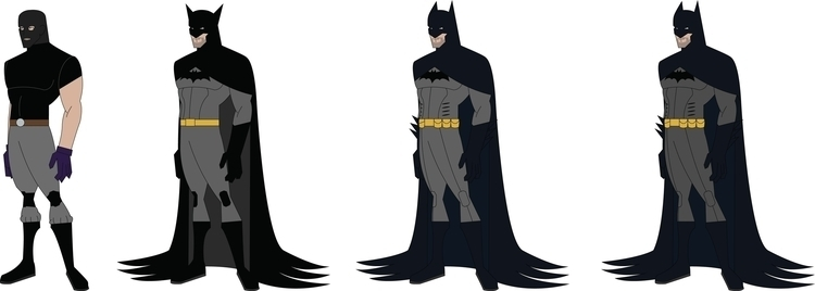 Batman Costume Evolution - characterdesign - jdude93 | ello