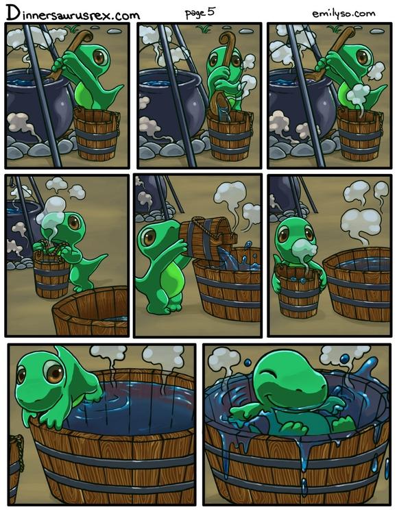 Dinnersaurus comics - drawing, illustration - emilyso321 | ello
