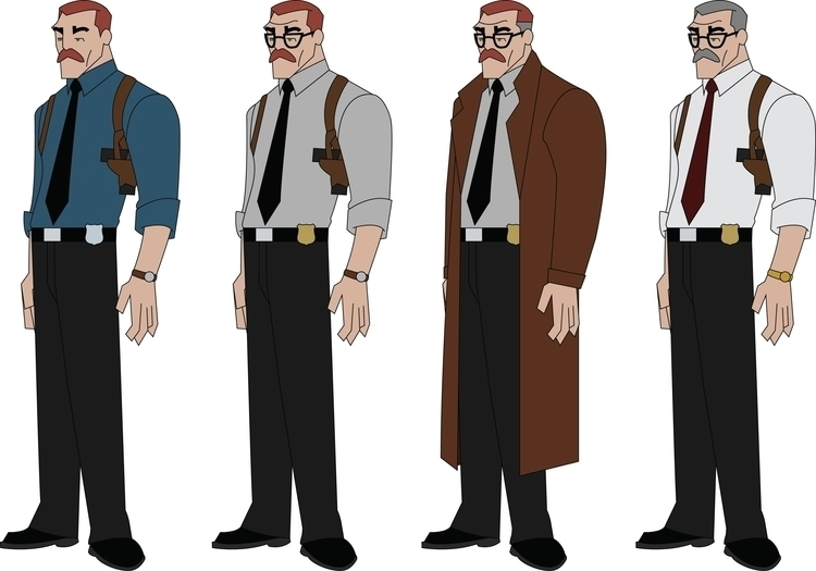 Gordon - characterdesign, commissionergordon - jdude93 | ello