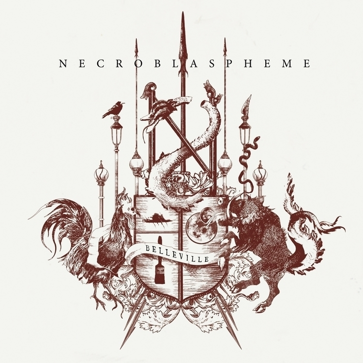Necroblaspheme record cover - dehnsora | ello