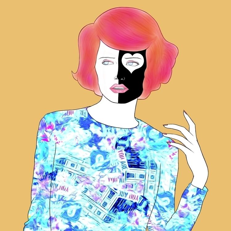 Malena - illustration, painting - madmatt-6047 | ello