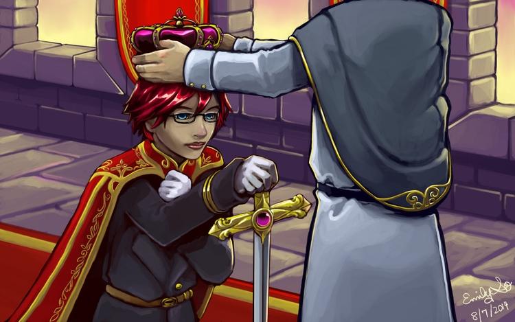 storytelling illustration Queen - emilyso321 | ello