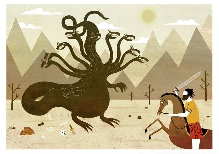 hydra - illustration, graphicdesign - ekoes | ello
