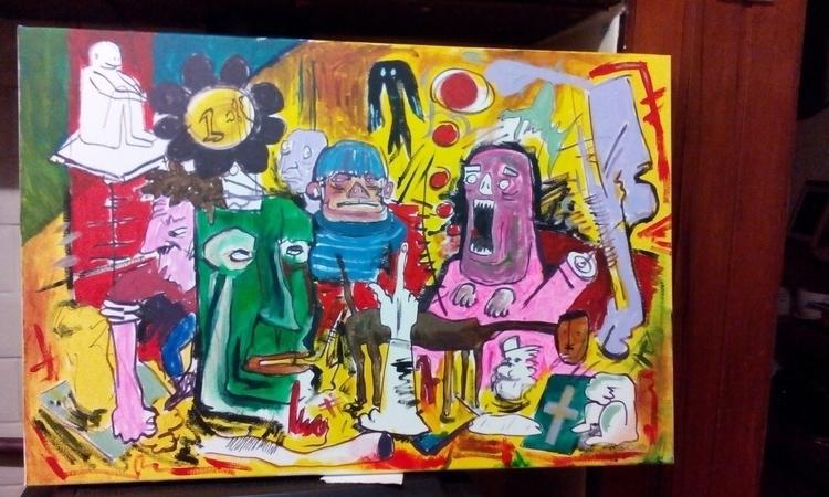lovely painting - freaks, weird - davewhelanart | ello