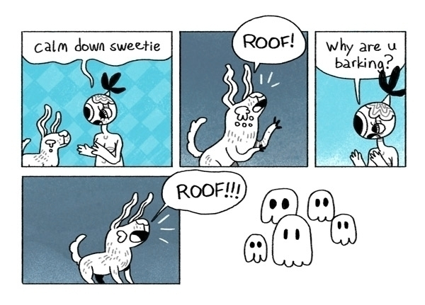 dogs - dog, pup, spooky, ghost, comic - indiana_jonas | ello