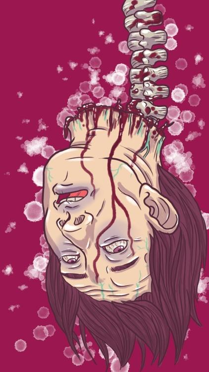 rage - headless, gore, illustration - thisjustine | ello