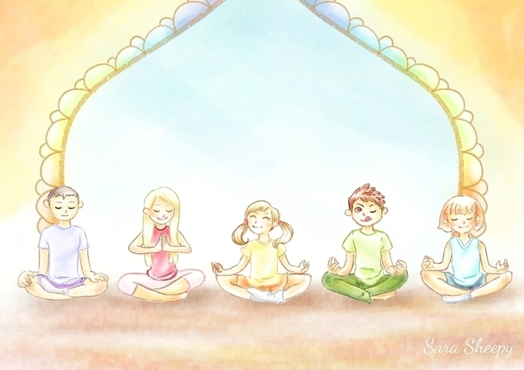 Children Meditation - children'sillustration - sarasheepy | ello