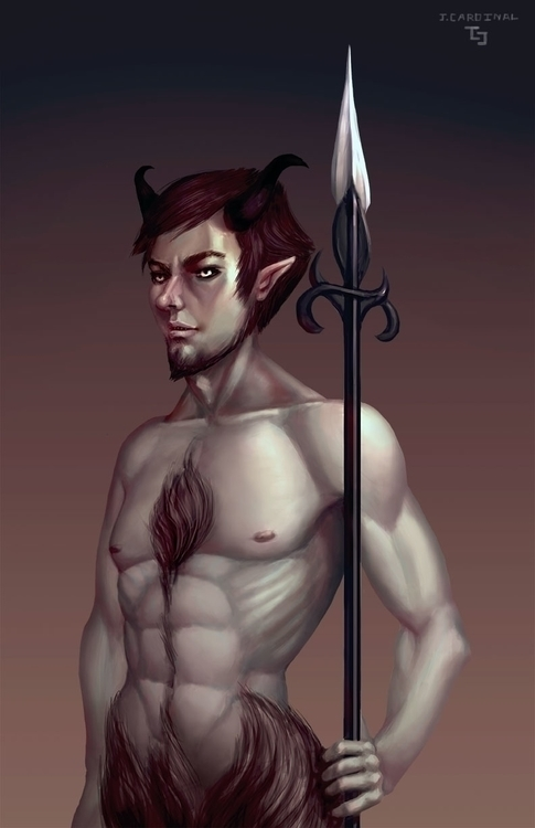 Satyr - illustration, painting, characterdesign - jacobcardinal | ello