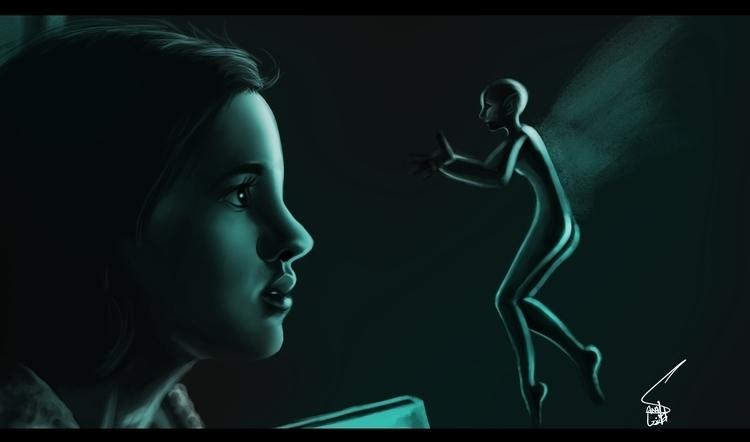 Labyrinth - painting - sanafarooq | ello