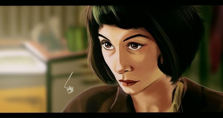 Amelie - painting - sanafarooq | ello