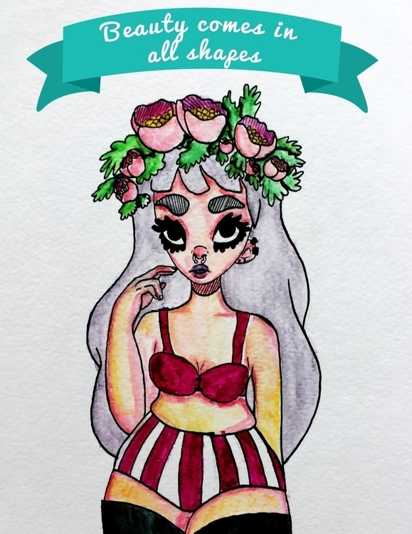 Watercolor ink - watercolor, girl - dearpaprika | ello