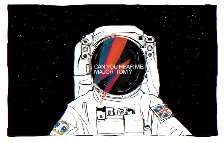 RIP David Bowie - davidbowie, illustration - mioim | ello