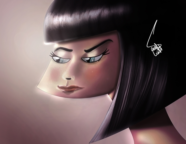 Mood - conceptart, characterdesign - sanafarooq | ello