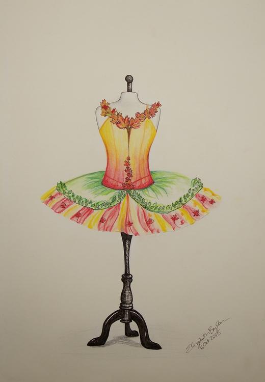 Autumn Inspired Tutu Design - illustration - elizabethboylan | ello