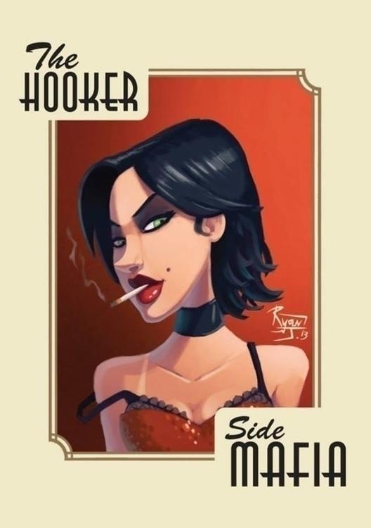 Hooker - ryanjames, illustration - ryanjames-2088 | ello