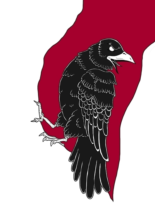 Crow - illustration, drawing, digitalillustration - lorenzomilan | ello